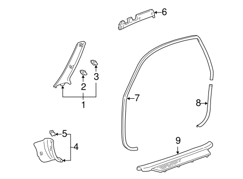 BODY/INTERIOR TRIM - PILLARS for 2000 Toyota Echo #2