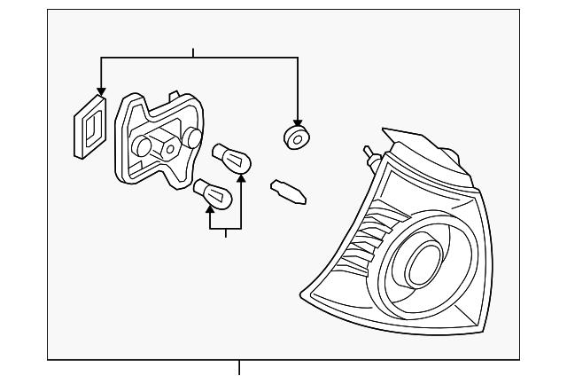 genuine volkswagen tail lamp assembly 1k6 945 096 ad ebay. Black Bedroom Furniture Sets. Home Design Ideas