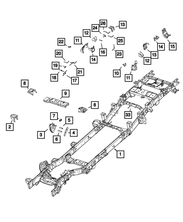Chassis Frame Assembly - Mopar (68461434AA)