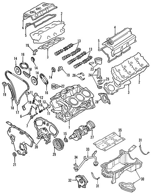 Oil pump for 2003 nissan pathfinder nissan parts for Nissan pathfinder motor oil