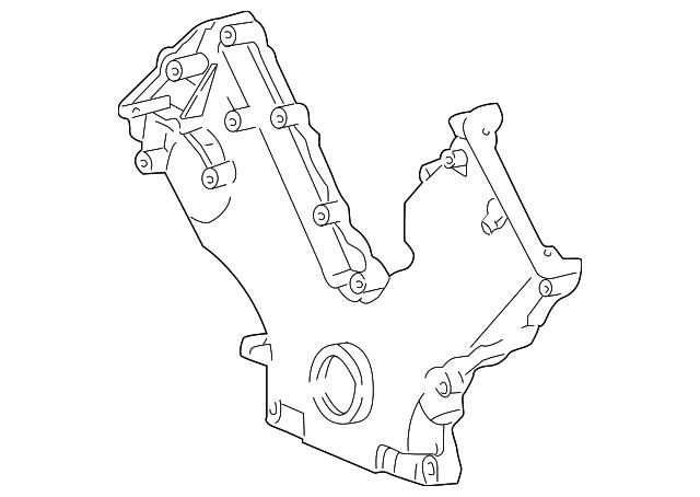 5 4l F150 99 Engine View