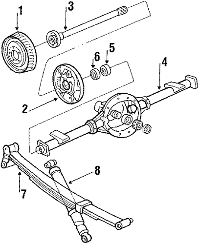 REAR SUSPENSION/REAR SUSPENSION for 1991 GMC G3500 #1