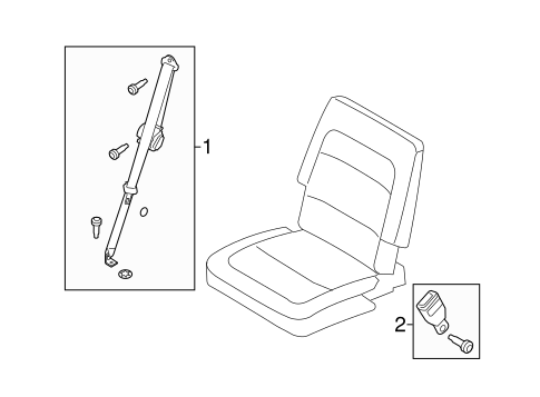 Third Row Seat Belts for 2015 Ford Flex #0