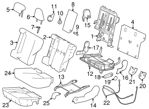 BODY/REAR SEAT COMPONENTS for 2015 Toyota RAV4 #1