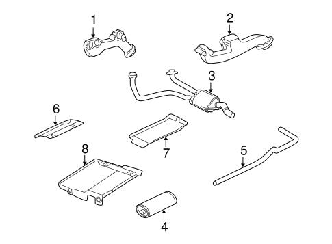 Exhaust Components for 2002 Dodge Ram 1500 Van | OEM Mopar Parts