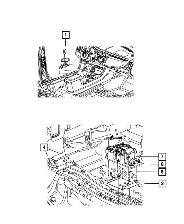 Genuine Chrysler 5273244AL Transmission Shifter