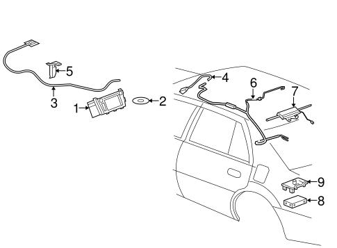 Oem 2006 Cadillac Dts Navigation System Parts