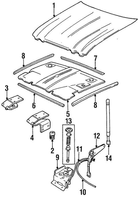 Hood Components For 1996 Jaguar Xj12