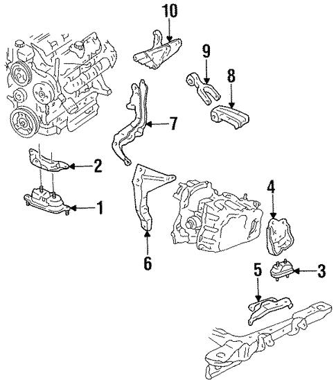 engine mounting for 1998 chevrolet lumina #0