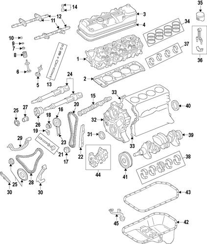 Genuine Oem Engine Parts For 1992 Mazda B2600 Le 5