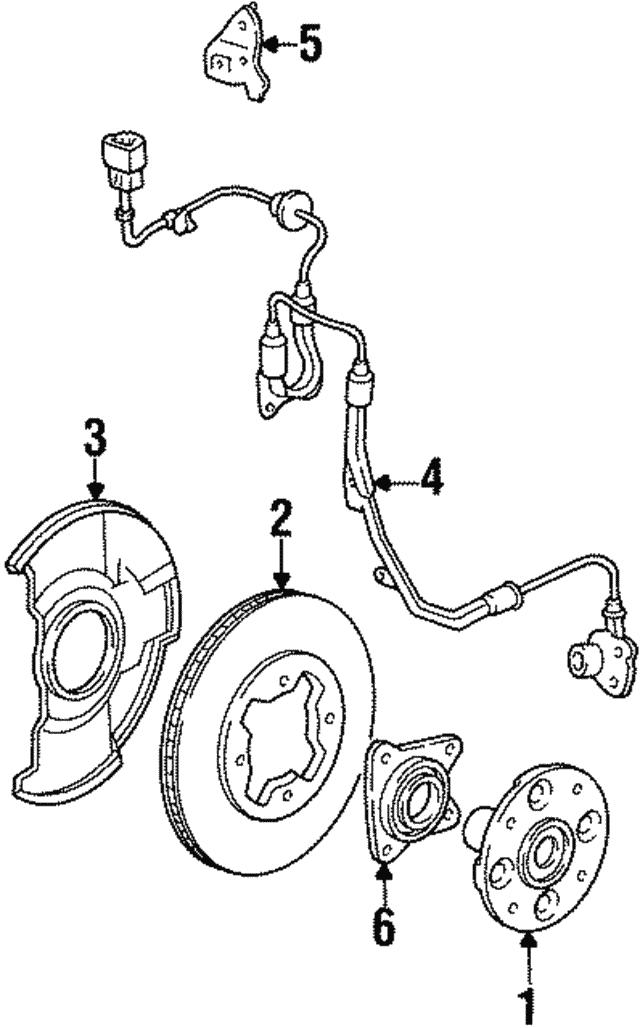 1994 1998 Honda Sensor Assembly L Front 57455 Sv4 951