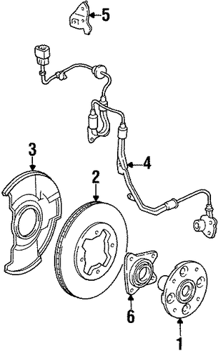 Bearing Assembly, Front Hub Unit (Ntn Corp.)