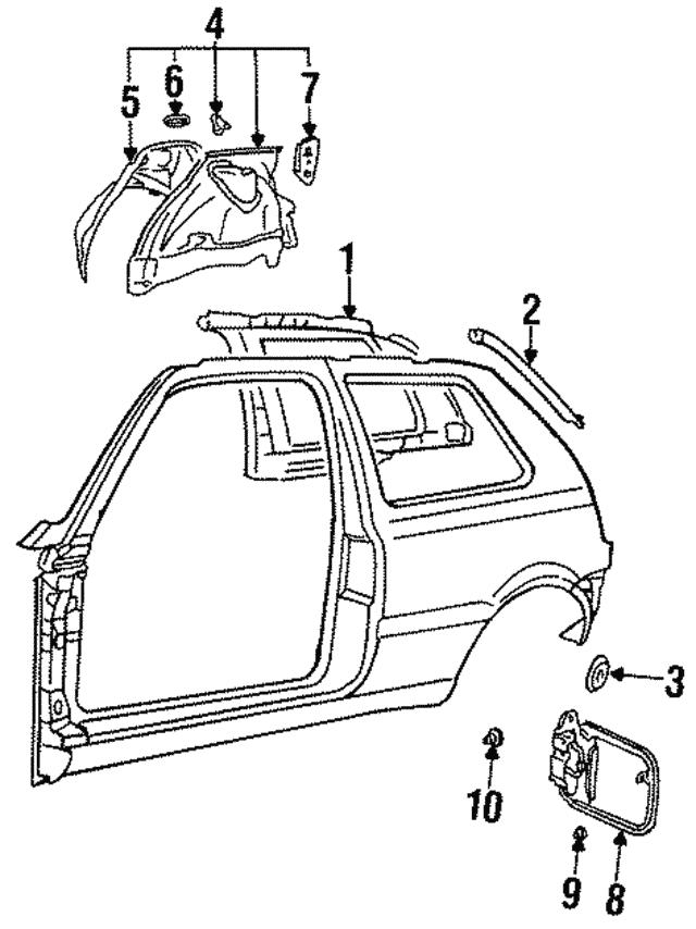 1993 2018 Volkswagen Door Frame Assembly Plug N 102 265 01