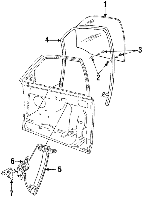 front door for 1995 ford crown victoria