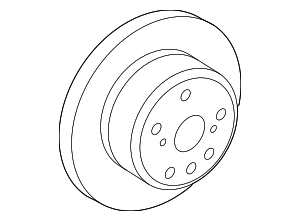 Disc Brake Rotor - Toyota (42431-48060)