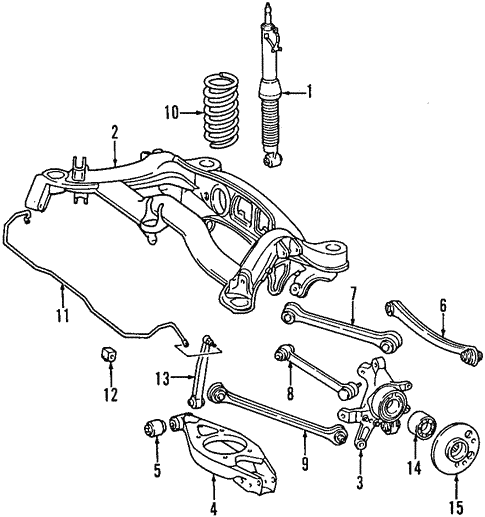 Rear Suspension For 2001 Mercedes Benz Clk 320