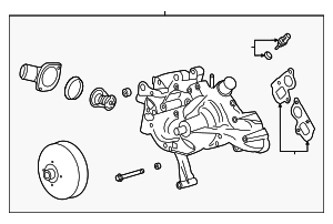 Water Pump Assembly - GM (12687632)