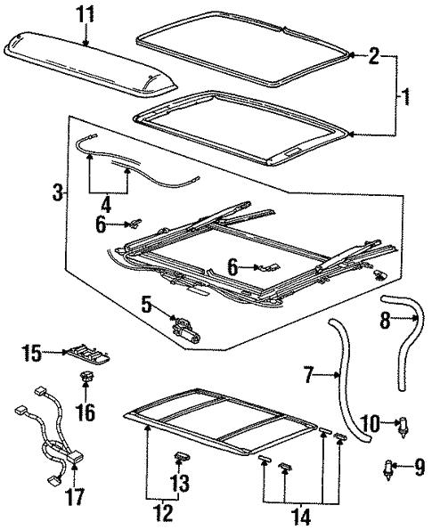 Oem 2002 Saturn Sc2 Sunroof Parts