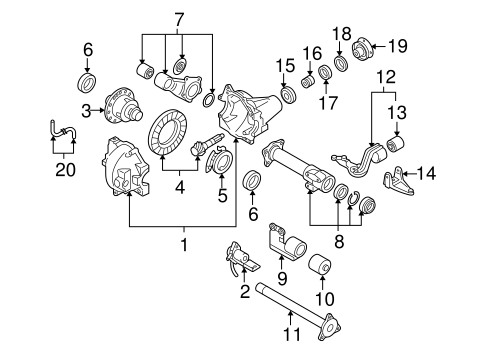 front suspension/front axle & carrier for 2004 suzuki xl-7
