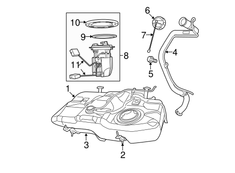 Fuel System Components For 2012 Dodge Caliber