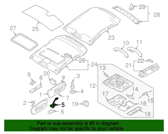 Bracket - Audi (8W0-857-562-A-Y22)  260fa3b824b