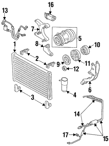 condenser compressor lines parts for 2000 pontiac grand. Black Bedroom Furniture Sets. Home Design Ideas
