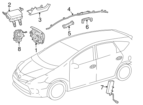 ELECTRICAL/AIR BAG COMPONENTS for 2016 Toyota Prius V #1
