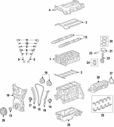 oem 2013 chevrolet spark oil pump parts