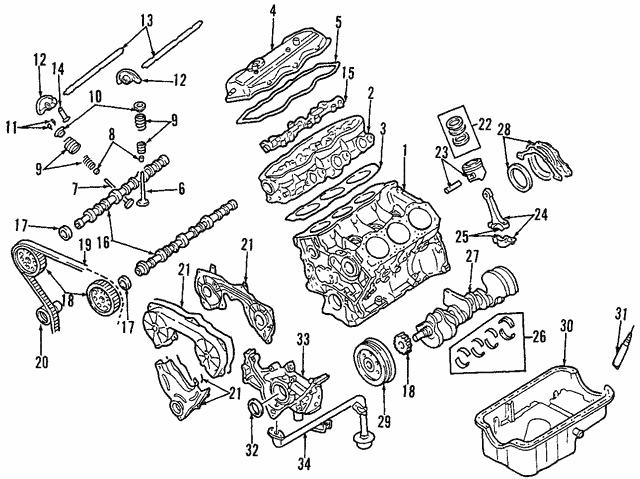 1999 2000 Nissan Pathfinder Piston Ring Set 12033 0w000