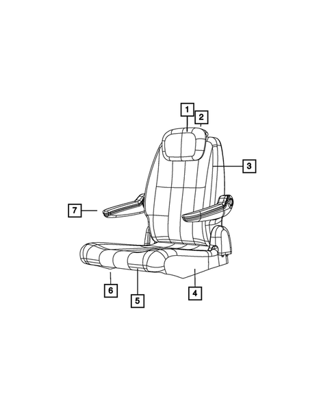 Rear Seats - Second Row for 2013 Chrysler Town & Country #3