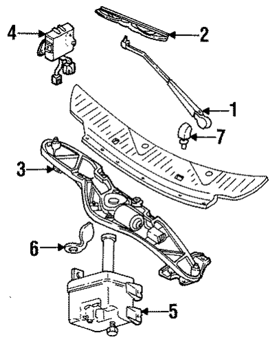 wiper components for 1996 mercury villager