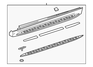 Running Board - Mercedes-Benz (166-690-01-75)