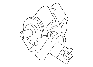 Power Steering Pump - Ford (F6ZZ-3A674-ACRM)