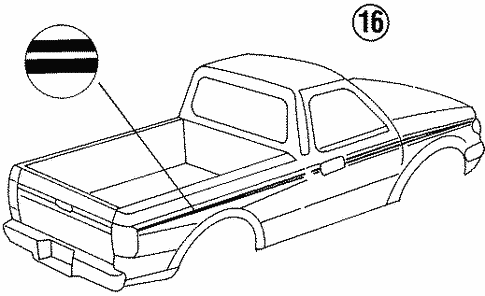 Body/Stripe Tape for 1997 Ford Ranger #3