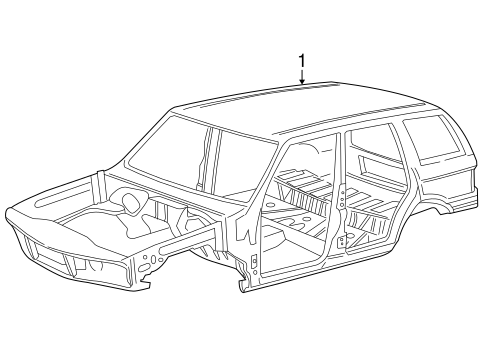 Body Shell For 2001 Land Rover Range Rover