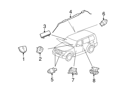 Air Bag Components For 2007 Dodge Nitro