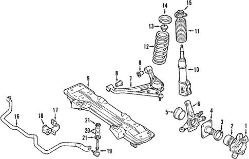 Suspension Components for 2000 Suzuki Vitara | World OEM Parts Subaru