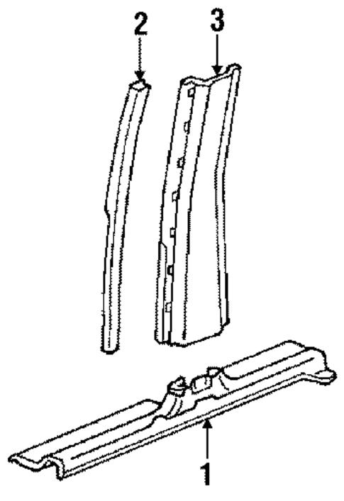 Oem 1988 Buick Lesabre Interior Trim Pillars Parts