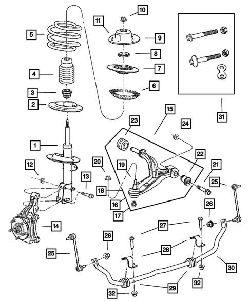 Genuine Chrysler 4684120 Spring Pivot Bushing