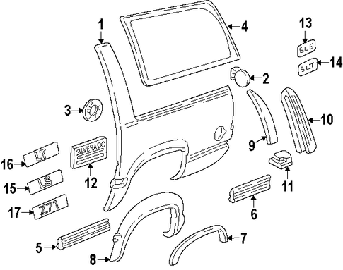 Gm Fender Liner Retainer Clip 88970767 moreover Rear Suspension Scat additionally Gm Negative Cable 19115413 in addition Blazer Heater Blend Door in addition Saturn Transmission Parts Diagram. on 05 saturn ion parts