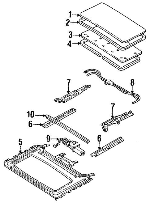 Sunroof for 1993 Mazda MX-3   RealMazdaParts.com on mazda b4000 wiring diagram, mazda millenia wiring diagram, mazda b2600 wiring diagram, mazda mpv wiring diagram, mazda 5 wiring diagram, mazda mx3 parts catalog, mazda 626 wiring diagram, mazda tribute wiring diagram, mazda b2000 wiring diagram, mazda mx3 transmission diagram, mazda b3000 wiring diagram, mazda 3 wiring diagram, mazda b2300 wiring diagram, mazda 6 wiring diagram, mazda rx8 wiring diagram, mazda miata wiring diagram, mazda b2200 wiring diagram, mazda protege wiring diagram, mazda 323 wiring diagram,
