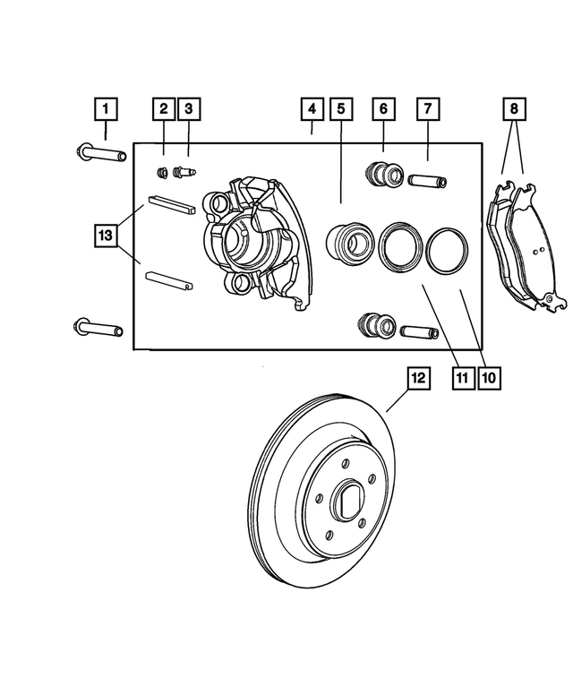 Pad Kit-Disc Brake - Mopar (5093511AC)
