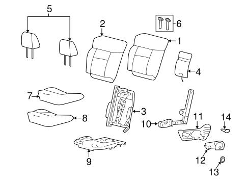 Front Seat Components For 2006 Ford F 150