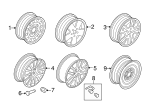 Wheel Lock Kit - Ford (F3SZ-1A043-A)