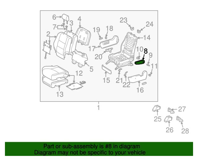 Toyota 72810-48180-B1 Seat Armrest Assembly