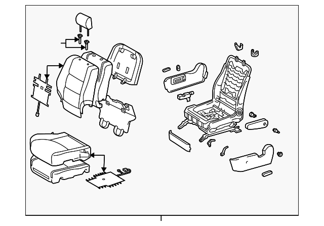 2004 2005 Toyota Highlander Seat Assembly 71100 48a20 B2 Genuine