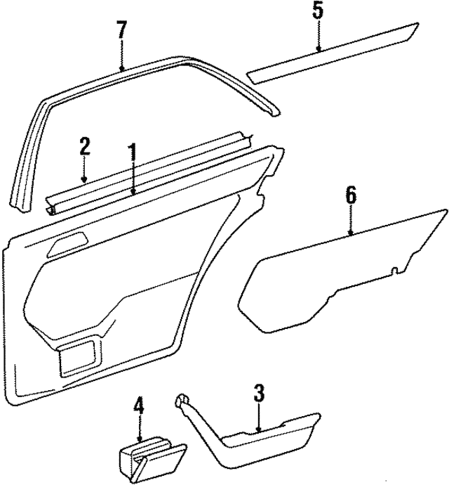 Interior Molding - Mercedes-Benz (124-730-03-22)