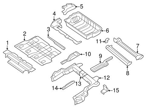 Rear Floor Rails For 2011 Volkswagen Routan