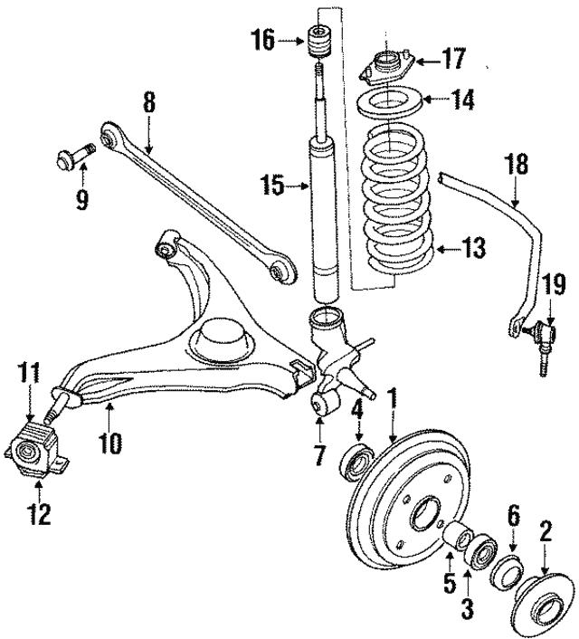 1989 1994 Suzuki Swift Knuckle 4611064b01