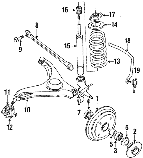 Rear Brakes for 1990 Suzuki Swift | World OEM Parts Subaru